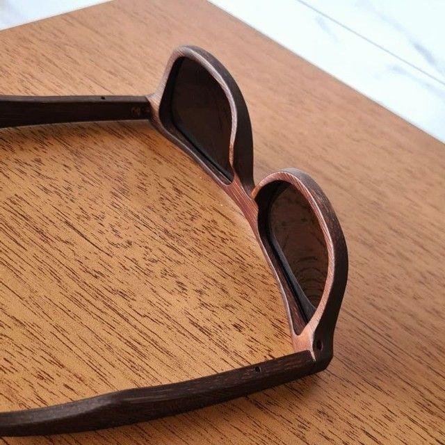 Óculos de Sol de Madeira Polarizado - Foto 4