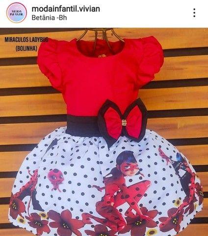 Vestido Ladybug tenho tamanho 8 anos