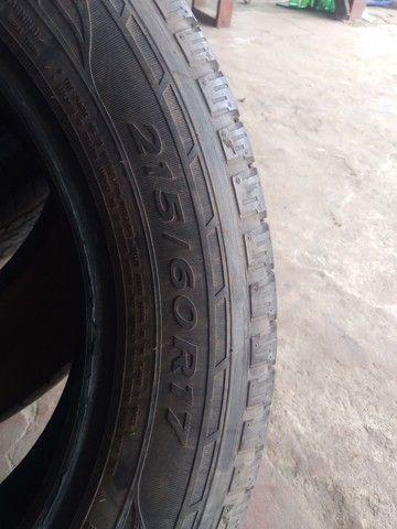 Vendo 4 pneus 215/60/ aro 17 dois quaser novo da marca goodiyear - Foto 5