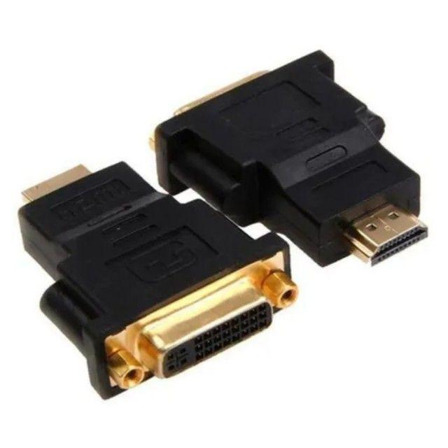 Adaptador HDMI macho para DVI fêmea - Foto 2