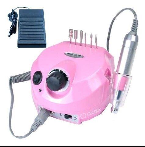 Lixa Eletrica Porquinho Motor Unhas Acrigel Bivolt 30000 Rpm - Foto 4