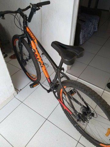 Bicicleta aro 29 vulcan alumínio freio a disco - Foto 6