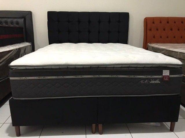 Cama Box Queen Size F.a Maringa Vivalle em Molas Extra Conforto Peça Nova! - Foto 3