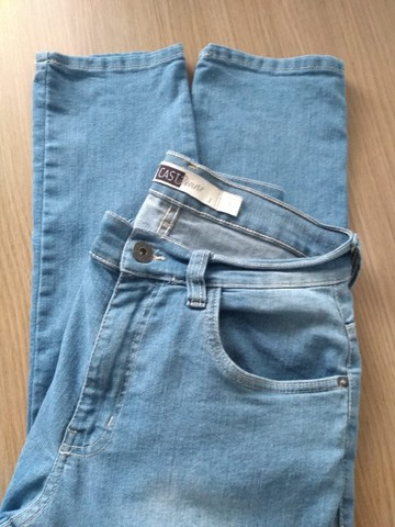Calça Jeans Azul - Tam 40 (Veste 38)