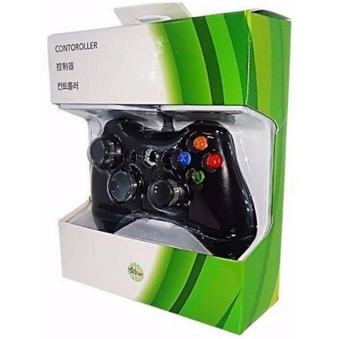 Controle Com Fio Xbox 360 E Pc Slim Joystick Notebook Usb - Foto 4