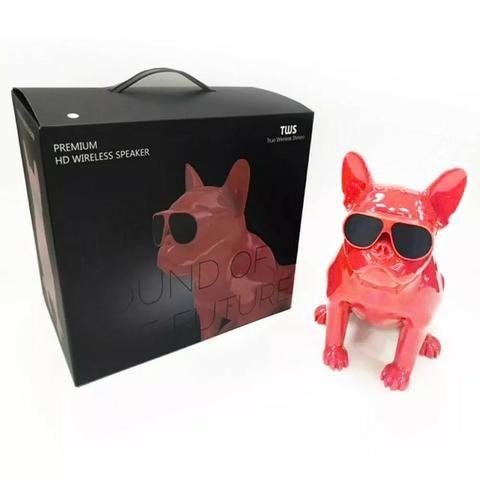 Caixa De Som Amplificada Modelo Cachorro Bulldog Bluetooth - Foto 6