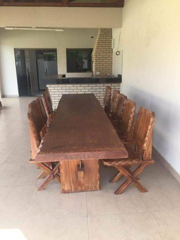 Mesa de madeira maciça - Troco- - Foto 5