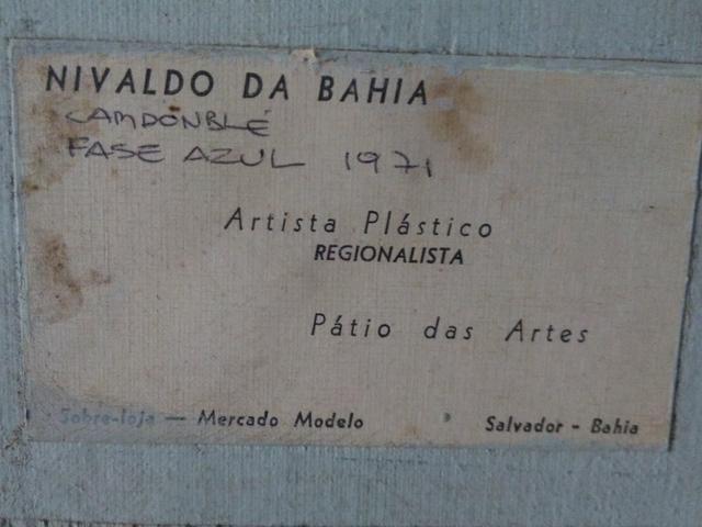 Quadro óleo sobre tela antigo ano 1971 - Foto 5
