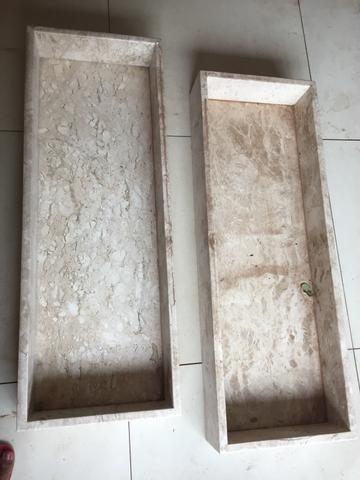 Nicho para banheiro mármore bege Bahia