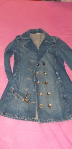 Casaco jeans, tamanho P