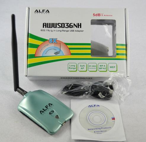 Alfa AWUS036NH Adaptador Wireless