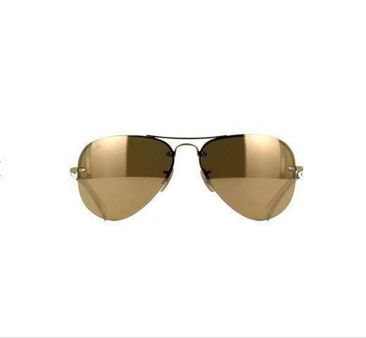 84da1dd252ce4 Ray Ban Aviador Rb3449 001 2y Dourado Lentes Douradas - 59 ...