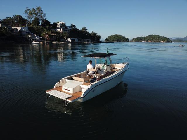 Lancha Fishing 265 - Mercruiser 5.0 V8 gasolina - Impecável - Foto 11