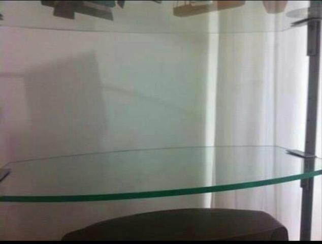 Estante De Vidro Temperado : Estante giratória em aço com vidro temperado móveis macaíba
