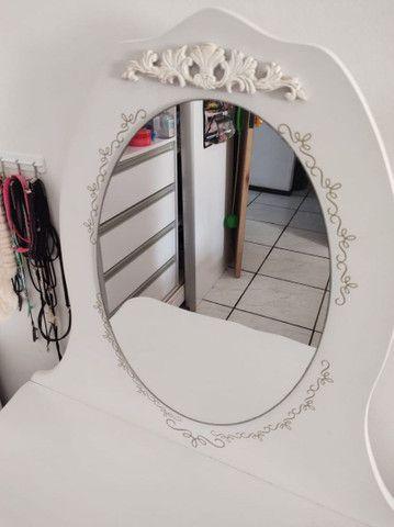 Penteadeira provençal branca com banqueta - Foto 5