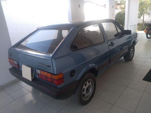 Vendo Troco Gol 1991 azul, 1.6, álcool motor CHT. - Foto 4