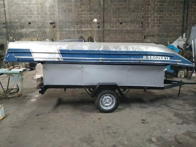 Barco borda alta + carretinha + cozinha completa  - Foto 9
