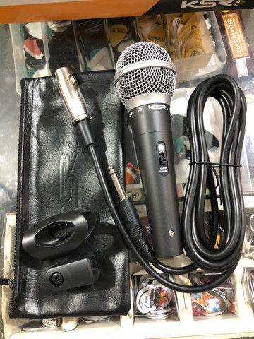 Microfone KSR KS58 novo, com acessórios  - Foto 4