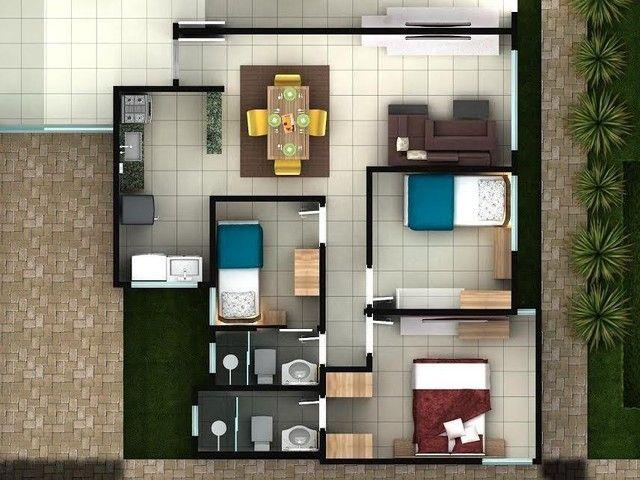 Apartamento à venda, 63 m² por R$ 150.000,00 - Vereda Tropical - Eusébio/CE - Foto 3
