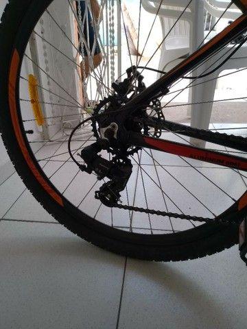 Bicicleta aro 29 vulcan alumínio freio a disco - Foto 3