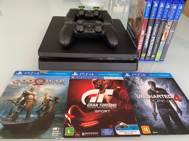 PlayStation 4 1TB slim com 2 controles - Foto 5
