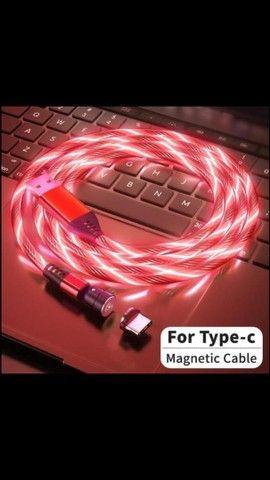 Cabo carregador magnético led iPhone / sansung / lg / motorola  - Foto 2