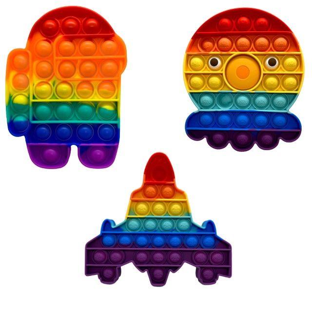 Brinquedo Pop It Fidget Toy Anti Stress Sensorial Diversos Modelos - Foto 3