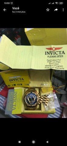 Relógio invicta original banhado a ouro