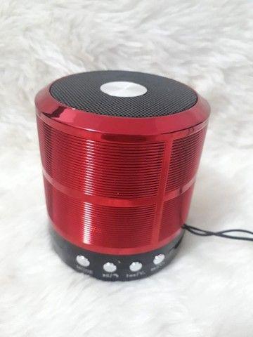Caixa de Som Caixinha de Som Speaker Portátil Bluetooth Com Mp3 Fm Sd USB - Foto 4