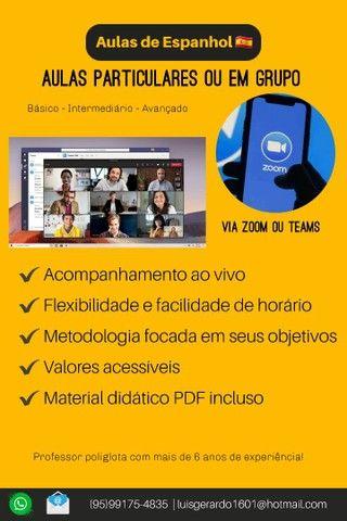 Estude inglês e espanhol em casa (Aulas particulares 100% ao vivo) - Foto 2