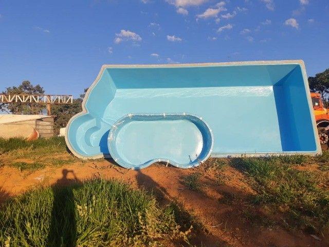piscina de fibra leds de brinde fibra - Foto 2