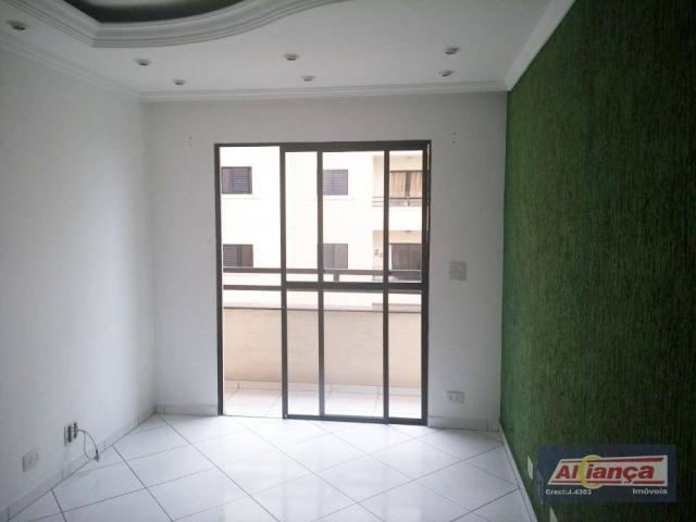 Apartamento residencial para locação, Bom Clima, Guarulhos.