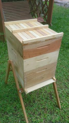 Caixa de abelha completa ninho +2 melgueiras colméia apicultura - Foto 3