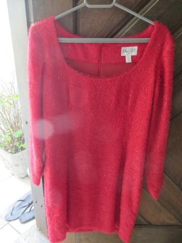 4f945a896 Vestido de festa vermelho manequim 40 ou 42 manga longa - Roupas e ...