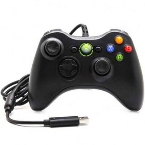 Controle Com Fio Xbox 360 E Pc Slim Joystick Notebook Usb - Foto 3