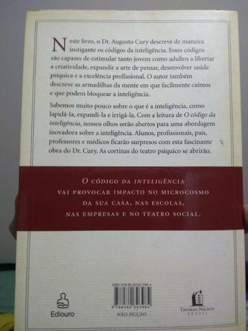 O Código Da Inteligência, Augusto Cury - Foto 2