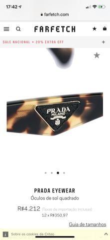 Óculos de sol Prada feminino com couro - Bijouterias, relógios e ... 0e4c7fcf75