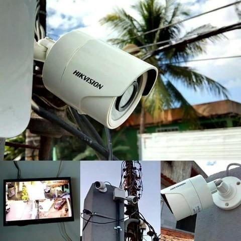 Dvr Full HD Hikvision Kit instalado completo 8 cameras com infra vermelho +  Alarme 9f8f702e8fdb2