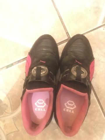 puma disc rosa e preto