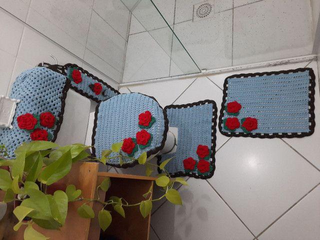 Jogo de banheiro floral - Foto 2