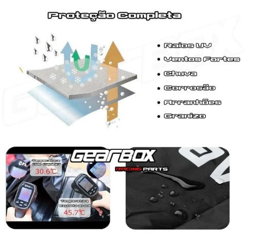 TRAVA DE MOTO TECKLOCK + TRAVA DE CAPACETE TECKLOCK + CAPA DE MOTO  - Foto 10