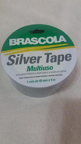 Fita Multiuso Silver Tape prata - Foto 2