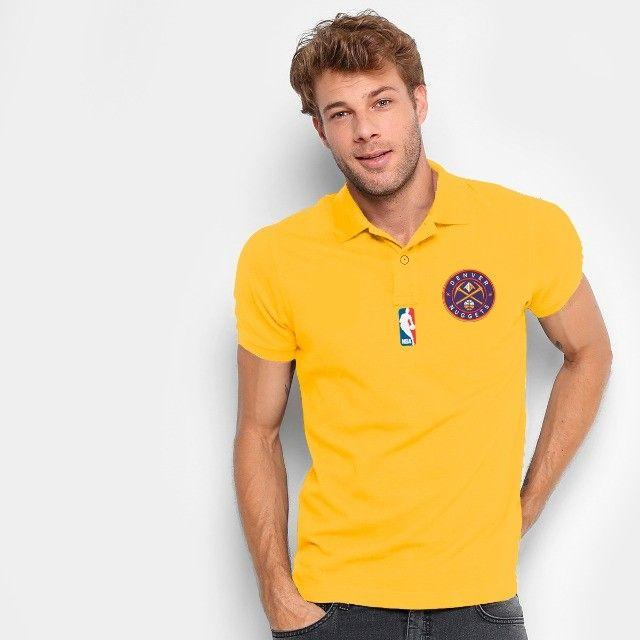 Camisa Polo Do Denver Nuggets - Nba - 100% Bordada - Foto 2