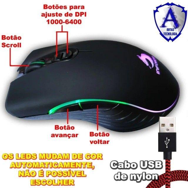 Mouse gamer usb com led rgb infokit gm-v550 x soldado - Foto 5