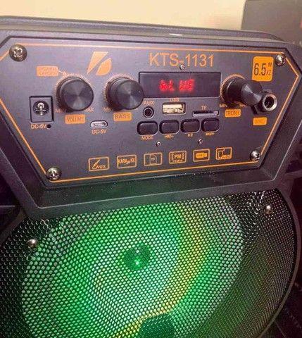 Caixa de som KTS 1131 com controle e microfone - Foto 4
