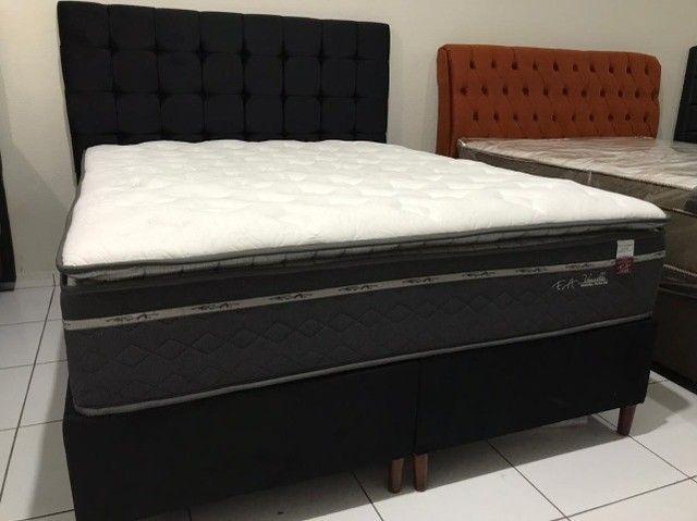 Cama Box Queen Size F.a Maringa Vivalle em Molas Extra Conforto Peça Nova! - Foto 5