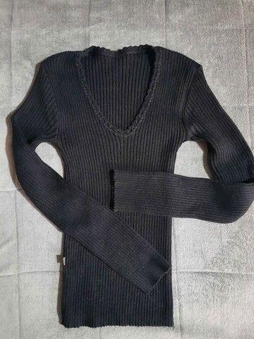Calça caramelo e linda blusinha de lã - Foto 3