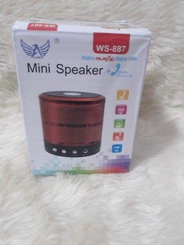Caixa de Som Caixinha de Som Speaker Portátil Bluetooth Com Mp3 Fm Sd USB - Foto 5