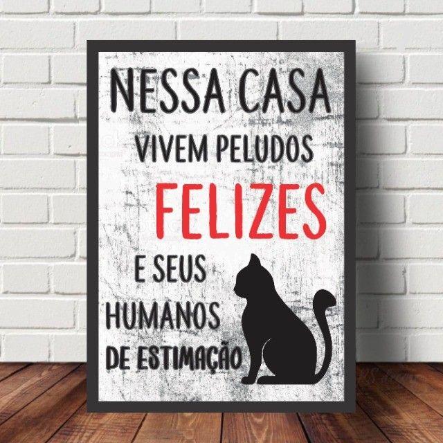 ***Leia*** Quadros Decorativos Personalizados Frases Pets - Foto 5
