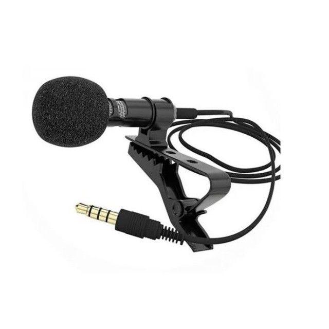 Microfone de Lapela Profissional Computador Youtuber Câmera em Joinville - Foto 2